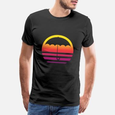Weather Retro Umbrella - Men's Premium T-Shirt
