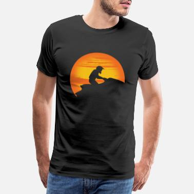 Jet Jet ski driver in the sunset. - Men's Premium T-Shirt