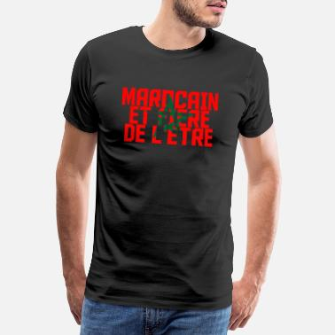Morocco Moroccan and proud to be - Men's Premium T-Shirt