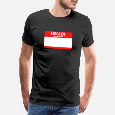Name Hallo mijn naam is ... - Mannen premium T-shirt