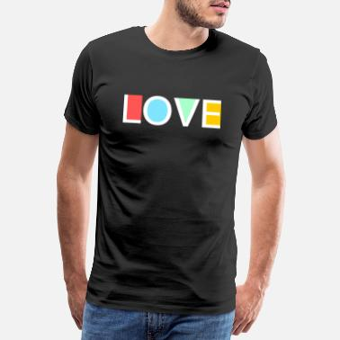 Herring Love colorful logo - Men's Premium T-Shirt