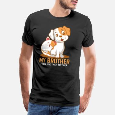 Paw Cat dog brother Funny animal lover gift - Men's Premium T-Shirt