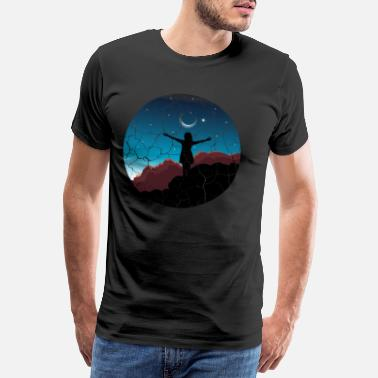 Soul Girl moon sunset Free woman gift - Men's Premium T-Shirt