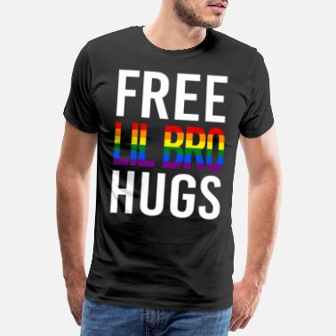 Little Italy Little Brother Hugs LGBT Ondersteuning Happy Pride - Mannen premium T-shirt