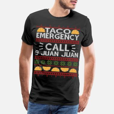 Juan TACO Emergency CALL 9 JUAN JUAN UGLY XMAS SWEATER - Männer Premium T-Shirt