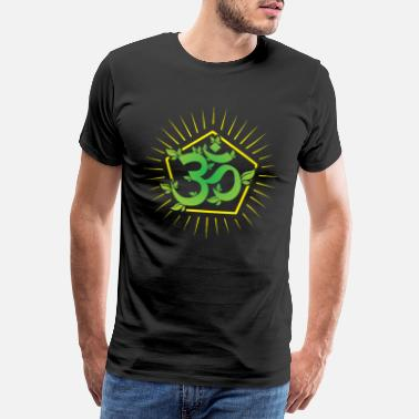 Indian Symbols Om sign - Men's Premium T-Shirt