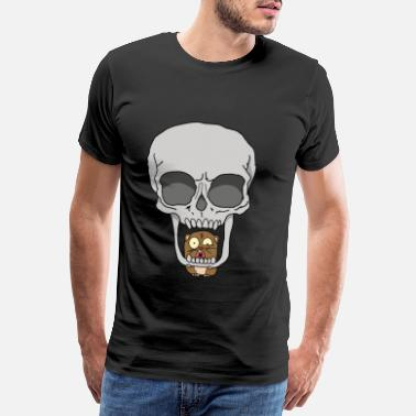 Rum Pirate Funny hamster in skull skeleton gift idea - Men's Premium T-Shirt