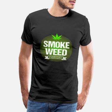 Hash Stoner 4:20 4/20 420 Germany Cannabis Weed Ganja Everyday - Men's Premium T-Shirt
