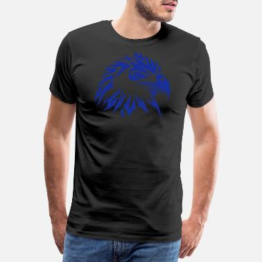 Visarend tribal eagle tattoo 11 - Mannen premium T-shirt