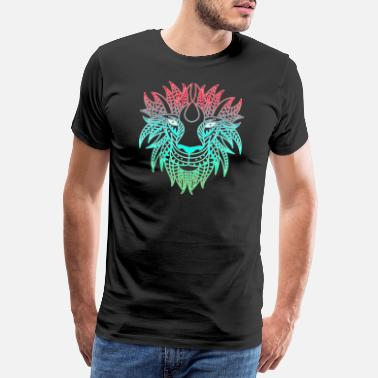 Steppe Lion mandala - Men's Premium T-Shirt