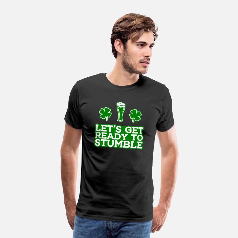 Day T-Shirts - St. Patrick's Day Drink Alcohol Beer Ireland - Men's Premium T-Shirt black