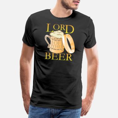 Bierflaschen Säufer Lord of the Beer - Männer Premium T-Shirt