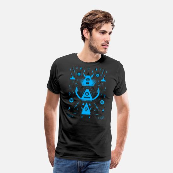 Abstract T-Shirts - Abstract Triangle Transformation - Men's Premium T-Shirt black