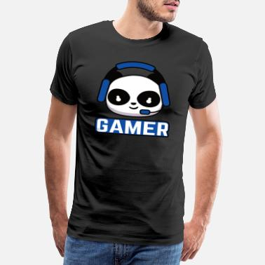 Noob Gamer Esport Gaming Gamer Panda Noob Gift - Men's Premium T-Shirt