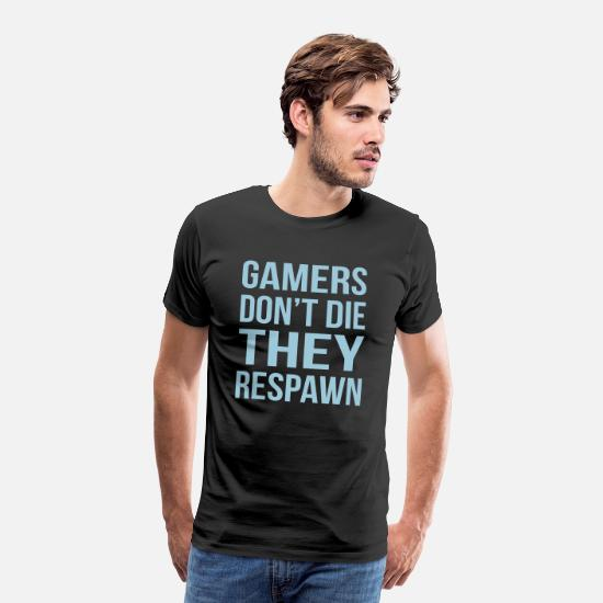 Nörd T-shirts - Gamers Do The Respawn - Premium T-shirt herr svart