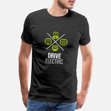Car Electric car driving traffic turnaround - Men's Premium T-Shirt