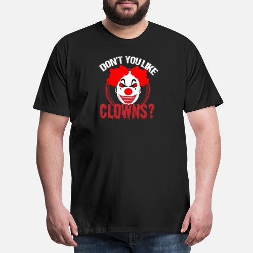 Halloween Clown skräck skräck party kostym läskigt - Premium T-shirt herr.  Bak. Bak. Motiv. Fram. Fram 0b61e1e0535db