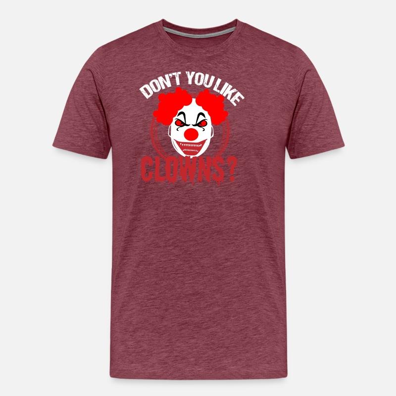 Halloween Clown skräck skräck party kostym läskigt Premium T-shirt herr  69c97fda4e408