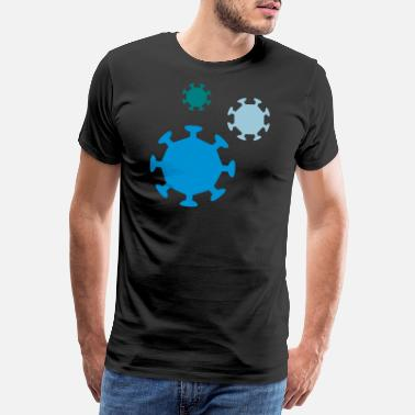 Test virus - Premium T-shirt herr