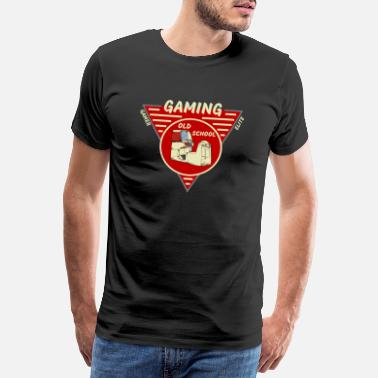 Old School Sprüche Old School Gaming - Männer Premium T-Shirt