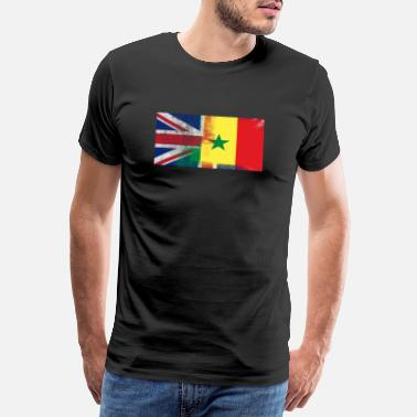 British British Senegalese Half Senegal Half UK Flag - Men's Premium T-Shirt