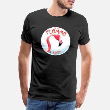 Gruppordspråk citationstecken humor flemma i rosa flamingo roliga 14 3 - Premium T-shirt herr