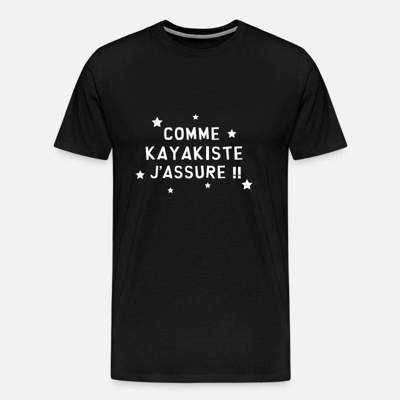 Né à Kayak Dames T-shirt imprimé Casual Tee pour kayakiste Kayak Canoe Femme