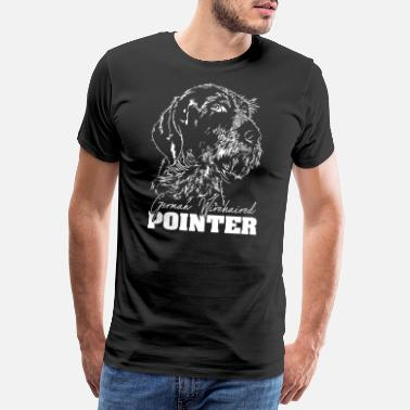 Deutsch Drahthaar GERMAN WIREHAIRED POINTER Wilsigns Geschenk Hunde - Männer Premium T-Shirt