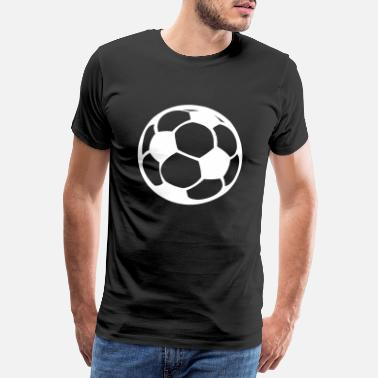 Ballon Rouge football - T-shirt Premium Homme