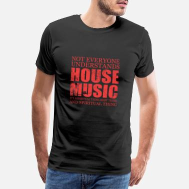House Music Song Sound Gift Pop Rock Techno House Note - Men's Premium T-Shirt