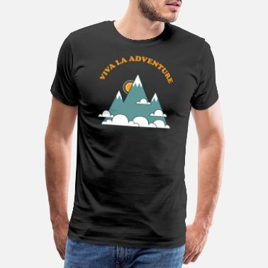 Travel Viva La Adventure, Mountain, 70s Retro Vintage - Premium T-shirt herr
