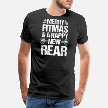 Going To Be A Mom Merry Fitmas Xmas Christmas New Rear Fitness - Men's Premium T-Shirt