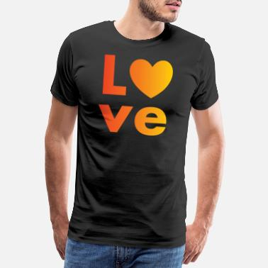Sided Love with a heart - Men's Premium T-Shirt
