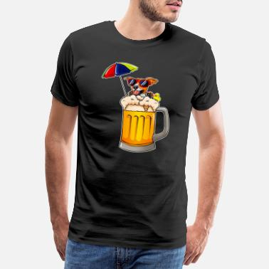 Golden Anniversary Funny dog gift beer glass summer vacation - Men's Premium T-Shirt