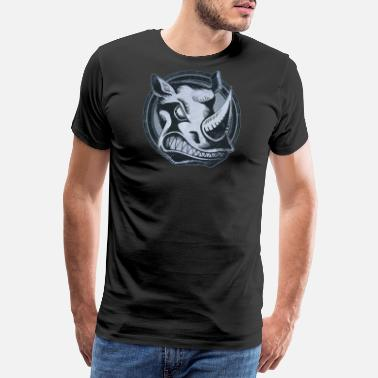 Shades Wild Rhino Grunge Animal - Men's Premium T-Shirt
