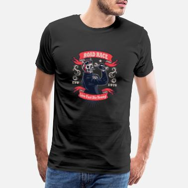 Devil Tattoo Retro Rockabilly Live Almost The Young Gift - Men's Premium T-Shirt