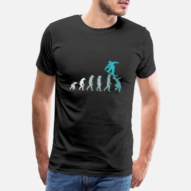 Snowballs Snowboarder Evolution Snowboarding Winter Sport - Men's Premium T-Shirt
