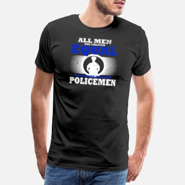 Handcuff Police Policeman Policewoman Handcuffed Occupation - Men's Premium T-Shirt