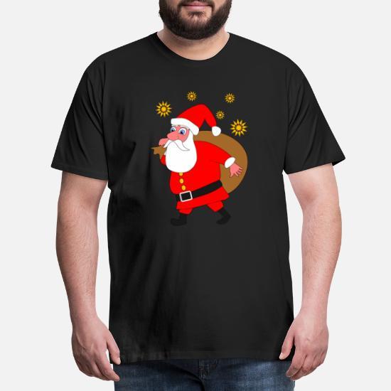 Julenisse Premium T skjorte for menn | Spreadshirt