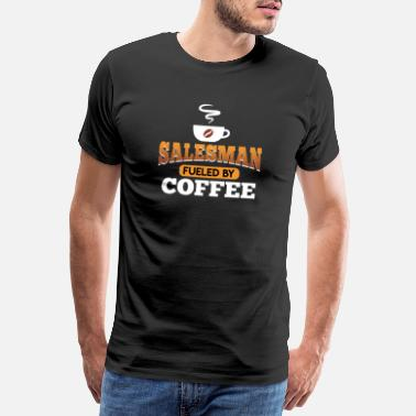 Active Seller powered by coffee - Men's Premium T-Shirt