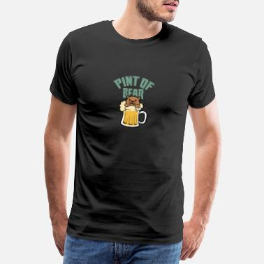 Beer Bear Beer glass I bear drinks beer - Men's Premium T-Shirt