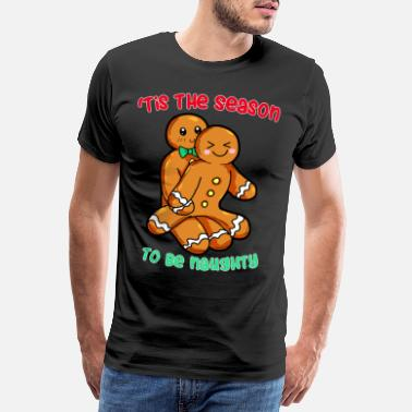 Messed Up naughty gingerbread couple messed up christmas - Men's Premium T-Shirt