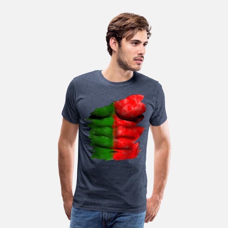 Bannière drapeau portugaise T-shirt premium Homme  90d5f97a1ac