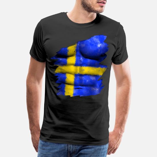 new york 414b5 66180 Schweden Flagge Bodypaint WM EM Fußball Outfit Men's Premium ...