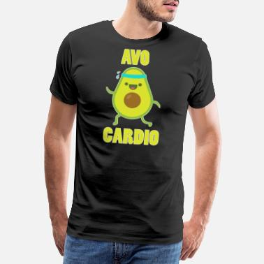 Calories Avocado Cardio Shirt Vegan Calorie Gift Idea - Men's Premium T-Shirt