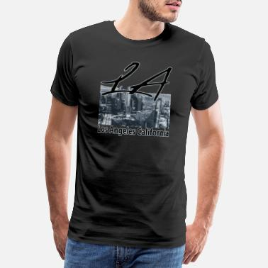 I Love La Los Angeles- LA- USA - Premium-T-shirt herr