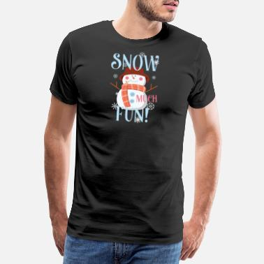 Nourrisson Snow Much Fun Snowman Christmas Flocons de neige - T-shirt Premium Homme