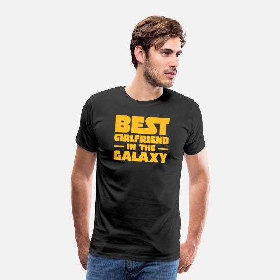Galaxy T-paidat - Best Girlfriend In The Galaxy - Miesten premium t-paita musta