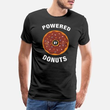 Laufen Powered By Donuts - Männer Premium T-Shirt