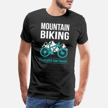 Mountain Mountain biker mountain bike mountain biking gift - Men's Premium T-Shirt